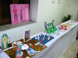 A model created by children at Hind Parisar