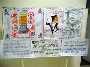 Posters prepared by students for the Poster Contest