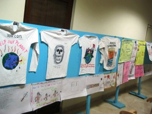 A display of T-shirt Painting Contest by Gyandeep students